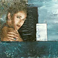 Wasser, Frau, Sehnsucht, Blau