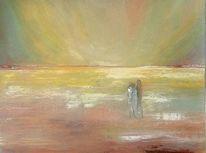 Menschen, Weite, Horizont, Sonnenuntergang