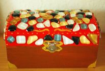 Mosaik, Truhe, Kiste, Bunt