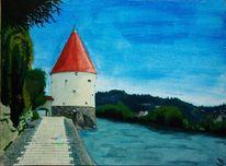 Fluss, Passau, Wasser, Stadt