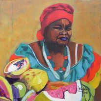 Frau, Brazilien, Bahiana, Marktfrau