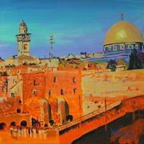Natur, Gold, Orange, Jerusalem