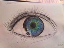 Augen, Traurig, Iris, Zeichnung