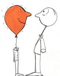 Luft, Menschen, Gespräch, Zeichnungen
