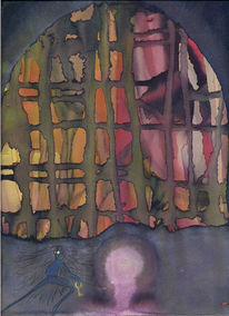Jung, Aquarellmalerei, Schlüssel, Aquarell