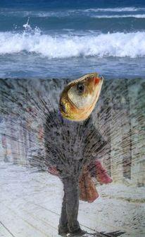 Sprudel, Sprudelfisch, Fisch, Digitale kunst