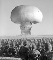 Militärübung desert mushroom, Genmanipulierte pilze, Strahlung, Pilzkopf