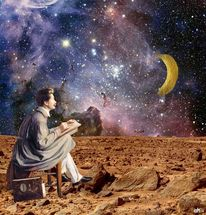 Banane, Mond, Illustrationen, Fantasie