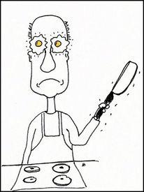 Hausmannskost, Cartoon, Schattenseite, Verlassen