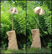 Holz, Kilroy, Plastik,
