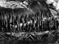 Glas, Krieg, Aquarellmalerei, Stab
