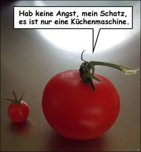 Angst, Vertrauen, Tomate, Küche