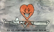 Tod, Cartoon, Liebe, Illustrationen
