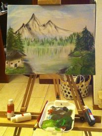 Bergsee, Malerei