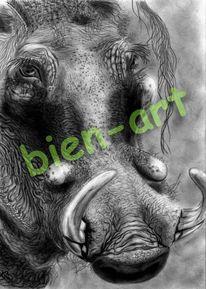 Afrika, Wandtatoo, Affe, Schlange