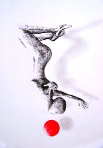 Körper, Frau, Tanz, Malerei