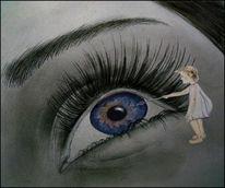 Kind, Augen, Seele, Blau