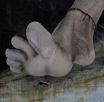 Zehe, Mücke, Fußkette, Fotografie