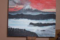 Ölmalerei, Futschijama, Japan, Malerei
