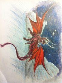 Rot, Drache, Zeichnungen