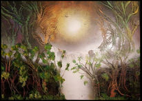 Baum, Bach, Wald, Wasserfall