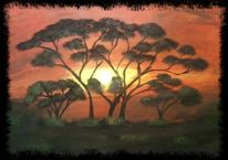Sonnenuntergang, Malerei