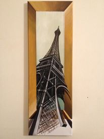 Paris, Fotografie, Orange, Acrylmalerei