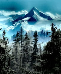 Ausblick, Berge, Alpen, Natur