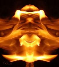 Flammen, Fantasie, Lagerfeuer, Schnappschuss