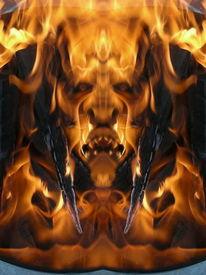 Fantasie, Flammen, Flammend, Reflexion