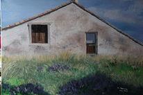Lavendel, Fenster, Architektur, Tür