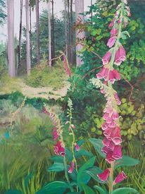 Grün, Glockenblume, Purpur, Natur