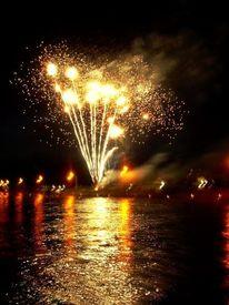 Schwarz, Feuer, Orange, Feuerwerk