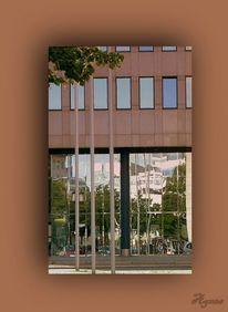 Architektur, Braun, Spiegelung, Fotografie