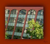Rot, Spiegelung, Architektur, Fotografie