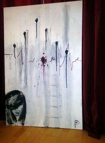 Broken heart, Herz, Malerei