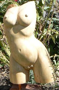 Ahorn, Holz, Torso, Figur