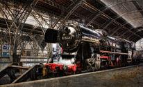 Dampflok, Eisenbahn, Hb leipzig, Fotografie