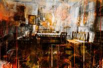 Feuer, Zimmer, Digitale kunst