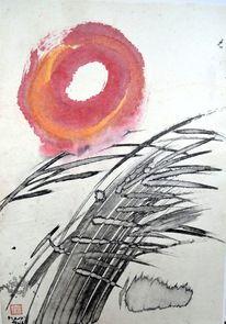Kreis, Zeichnung, Sonne, Sumi