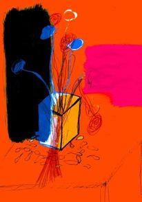 Zeichnung, Computer, Wasserfarbe, Bleistiftzeichnung