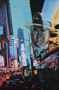 Al capone, Malerei, Portrait, New york
