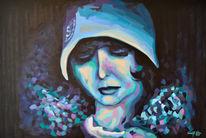 Frau, Malerei, Portrait, Gemälde