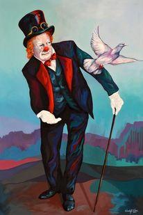 Zeitgenössische kunst, Gemälde, Realismus, Taube