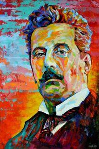 Zeitgenössisch, Blau, Wagner, Portrait