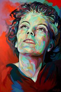 Zeitgenössisch, Acrylmalerei, Porträtmalerei, Gemälde
