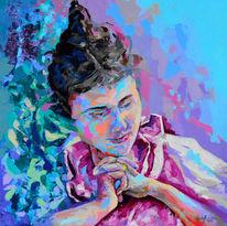 Acrylfarben, Spachteltechnik, Moderne malerei, Zeitgenössische kunst