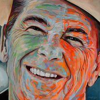 Portrait, Popart, Malerei, Zeitgenössische kunst