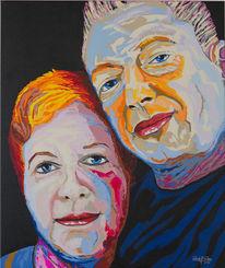 Zeitgenössisch, Pfalz, Acrylmalerei, Portrait
