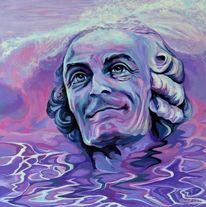 Violett, Acrylmalerei, Porträtmalerei, Zeitgenössisch